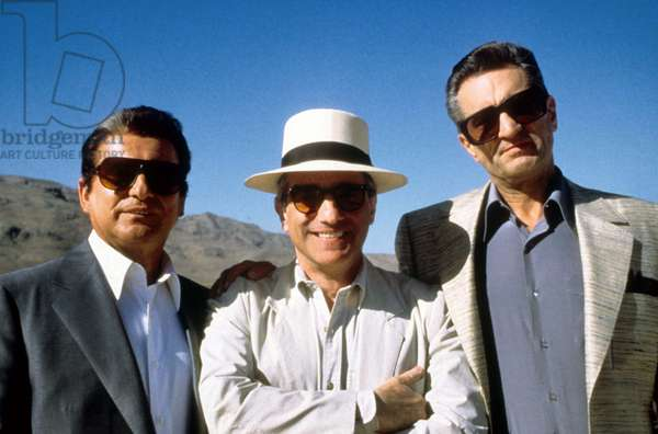 Director Martin Scorsese Joe Pesci and Robert de Niro during the shooting of Martin Scorsese's 1995 film CASINO