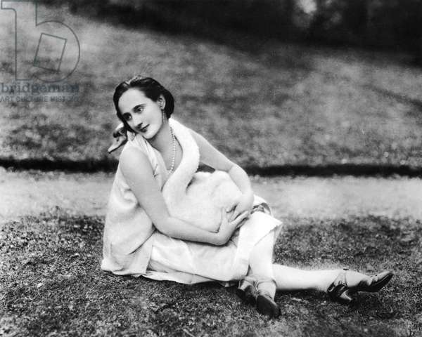 Russian dancer Anna Pavlova (1881-1931) here in August 1927 photographed with a swan by Lafayette