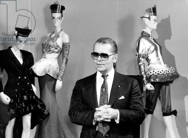 Karl Lagerfeld, director of Chanel fashion house, September 1987