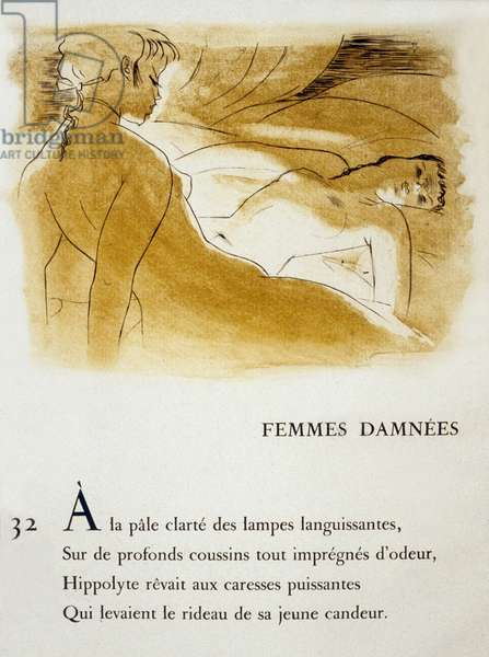 Femmes damnees (damned women) by Charles Baudelaire, 1945 (litho)