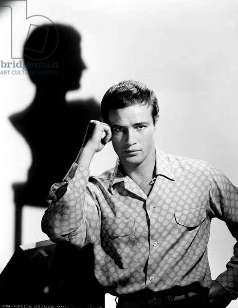 Marlon Brando à l'époque du film Jules César, 1953