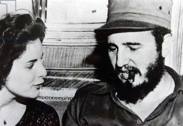 Fidel Castro and Marita Lorenz on MS Berlin in Havana harbour 1959 Marita will become Castro's mistress