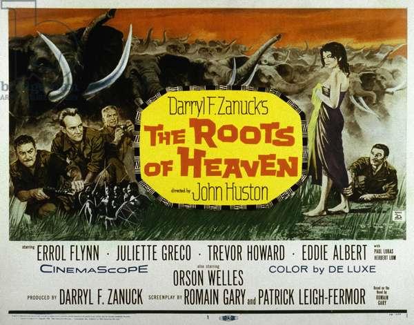 Les Racines du Ciel THE ROOTS OF HEAVEN de JohnHuston avec Trevor Howard Juliette Greco Eddie Albert Errol Flynn 1958 (d'apres Romain Gary, aka Emile Ajar)
