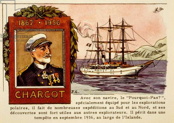 Jean Baptiste Charcot (1867-1936) French explorer, his sailboat le