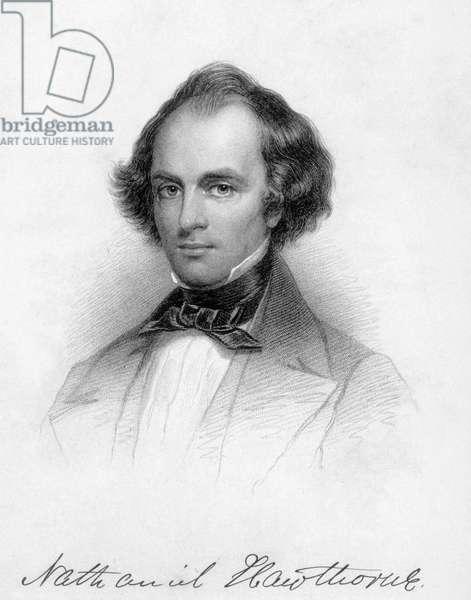 Nathaniel Hawthorne (1804-1864) American novelist, drawing
