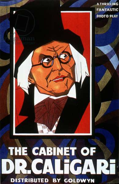 Affiche du film Le cabinet du Docteur Caligari CABINET OF DR. CALIGARI (aka DAS KABINETT DES DOKTOR CALIGARI) de RobertWiene 1920