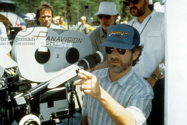 Director Steven Spielberg on set of film Always, 1989