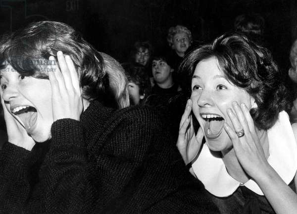 Hysterical women at concert of Beatles in Sheffield November 5, 1963