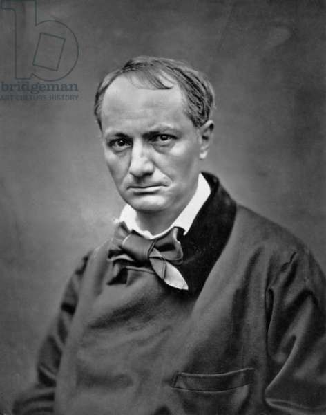 Charles Baudelaire (1821-1867) French poet photo by Etienne Carjat c. 1866