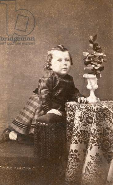 American architect Frank Lloyd Wright (1867-1959) as a child, McGregor, Iowa, 1869