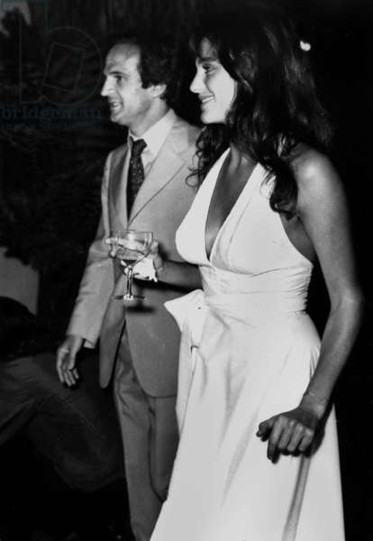 director Francois Truffaut and Actress Jacqueline Bisset in Hollywood August 24, 1973