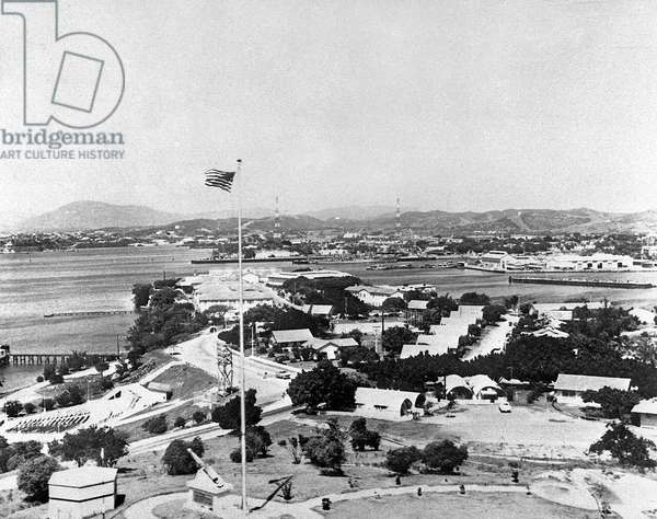 American base at Guantanamo Cuba April 14, 1961 a few days before the operation of Bay of Pigs Playa during the missiles crisis