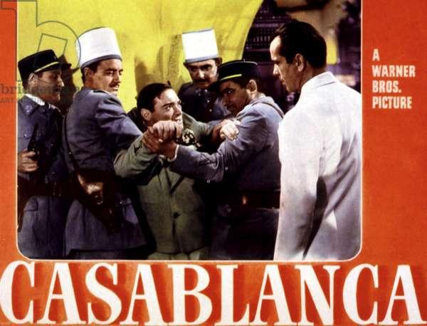 CASABLANCA de MichaelCurtiz avec Peter Lorre, Humphrey Bogart, 1942