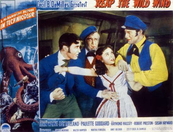 récolter le vent sauvage de Cecil B DeMille avec Ray Milland, Paulette Godard, John Wayne, 1942