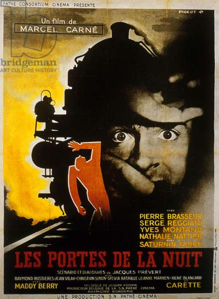 Les portes de la nuit de MarcelCarne avec Serge Reggiani et Yves Montand 1946