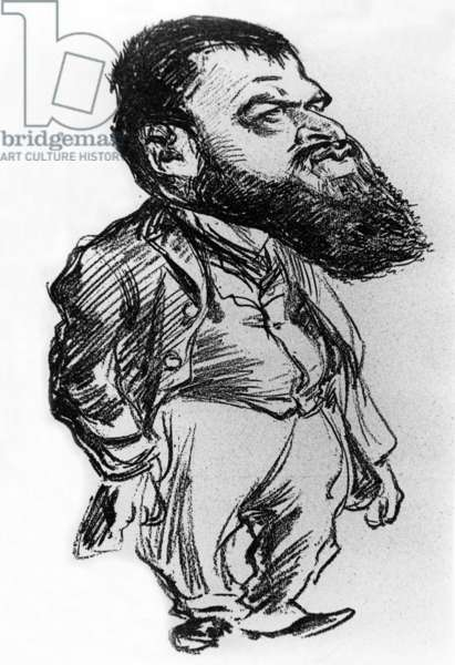 Tristan Bernard (1866-1947) French novelist and playwright, caricature by Charles Leandre