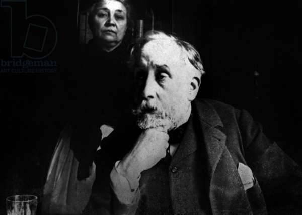 Edgar Degas (1834-1917), French painter and sculptor, self-portrait with his maid Zoe Closier. c. 1895
