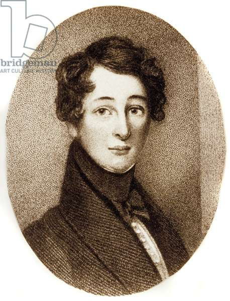 Charles Dickens (1812-1870) English novelist, as a young man, 1830, engraving