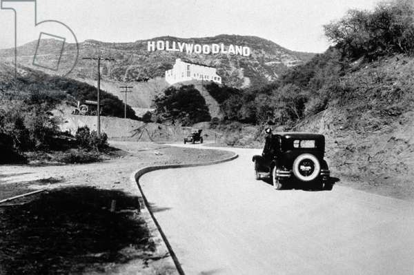 Hollywoodland sign : original sign in the Hollywood Hills, in the 30's