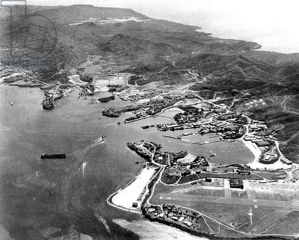American base at Guantanamo Cuba April 14, 1961 a few days before the operation of Bay of Pigs Playa during the missile crisis