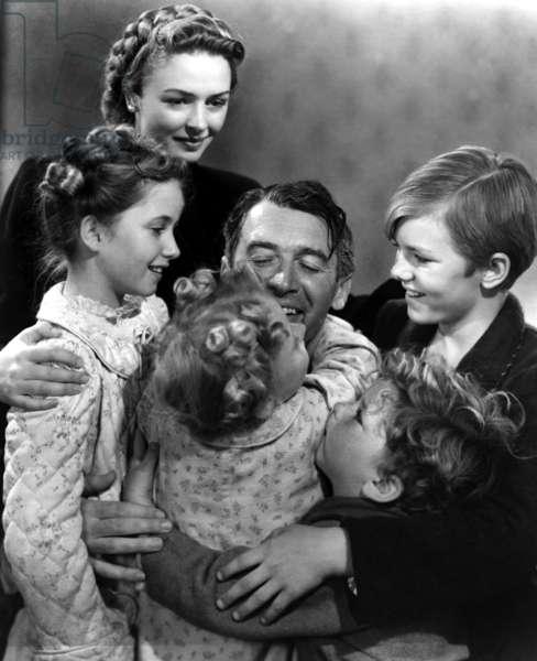 La vie est belle IT'S A WONDERFUL LIFE de FrankCapra avec Carol Coomes, Donna Reed, Karolyn Grimes, James Stewart, Jimmy Hawkins, Larry Simms, 1946