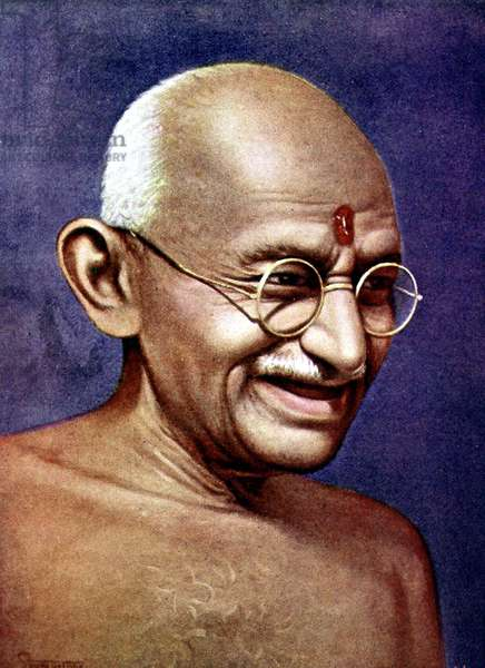 Le Mahatma Mohandas Karamchand Gandhi (1869-1948) Hindu nationalist and spiritual leader c. 1940