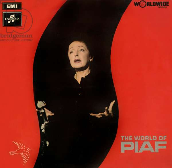 Enregistrement de longue durée de l'album Edith Piaf « The world of Piaf » c.1963