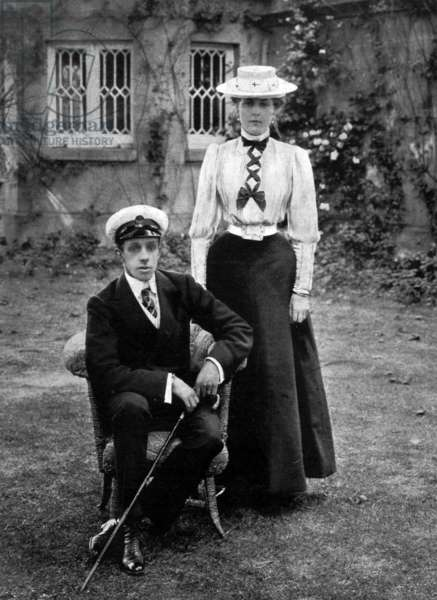 King Alfonso XIII of Spain (1886-1941) and Queen Victoria Eugenie of Battenberg (1887-1969) c. 1906