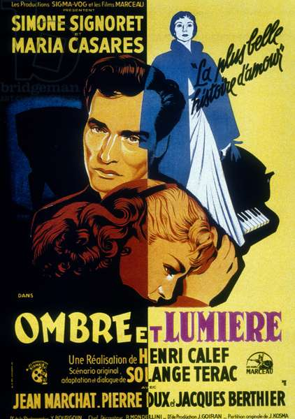 Ombre et lumiere Shadow and Light de Henri Calef avec Simone Signoret et Mar¿a Casares 1951