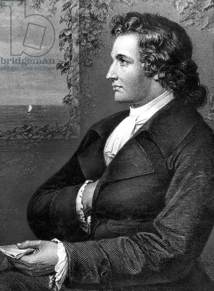 Johann Wolfgang von Goethe (1749-1832) German writer, engraving, c. 1780