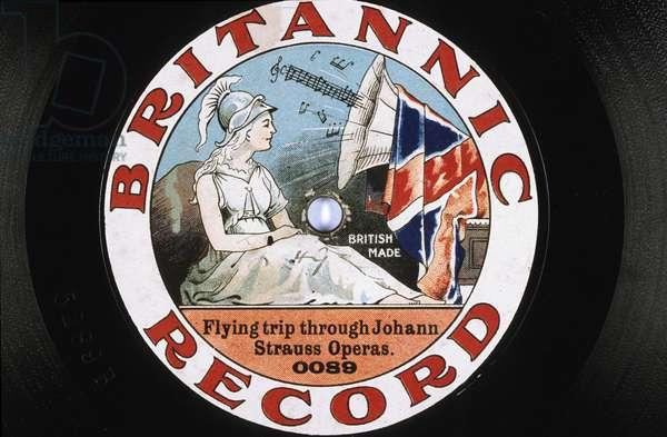 disque vinyle : Flying trip through Johan Strauss operas Britannic records