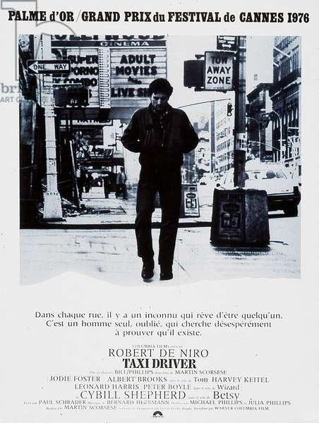 Affiche du film Taxi Driver de Martin Scorsese avec Robert De Niro, 1976 (Palmed'or1976)