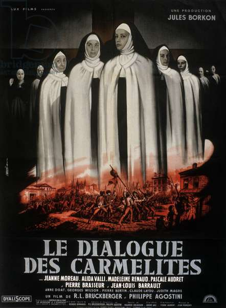 Le dialogue des Carmelites (The Carmelites), directed by Philippe Agostini and Raymond Leopold Bruckberger, 1960 (poster)