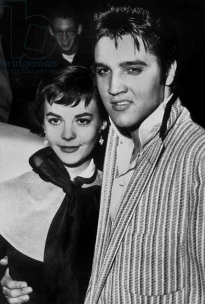 Natalie Wood and Elvis Presley, November 1, 1956. Memphis (Tennessee)