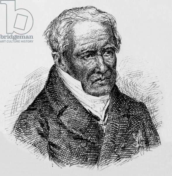 Baron Alexandre Von Humboldt (1769-1859) German naturalist and explorer, engraving