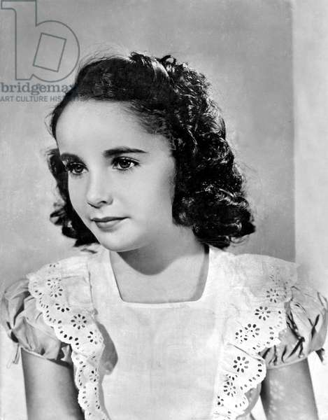 American Actress Elizabeth Taylor here as a child c.1942