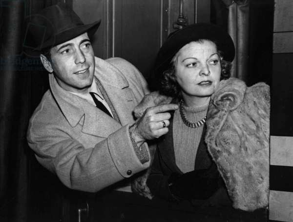 Humphrey Bogart and his 2nd wife Mayo Methot c. 1940