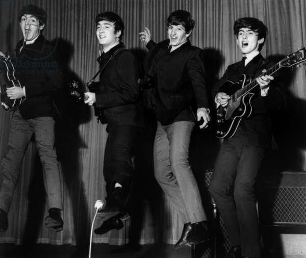 The Beatles (Paul McCartney, John Lennon, Ringo Starr and George Harrison) in 1963