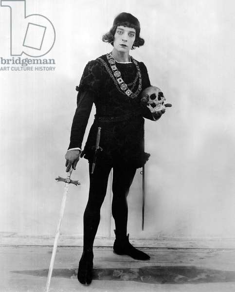 Buster Keaton in the role of 'Hamlet' (b/w photo)