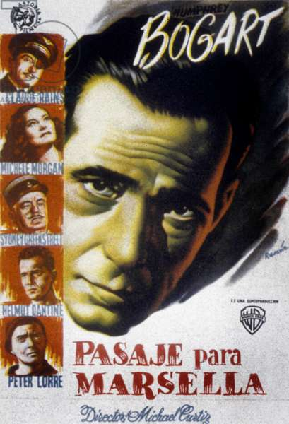 Passage pour Marseille PASSAGE TO MARSEILLE de MichaelCurtiz avec Humphrey Bogart, 1944