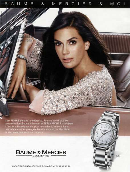 Teri Hatcher in the ad for the Baume and Mercier watch 2008