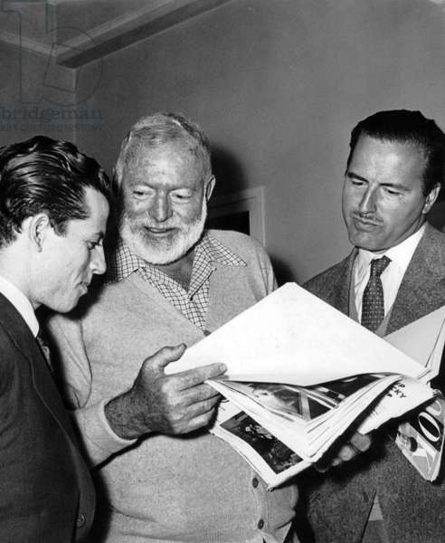 American writer Ernest Hemingway (1899-1961) came to settle in Madrid, Spain for convalescing, October 1st, 1956