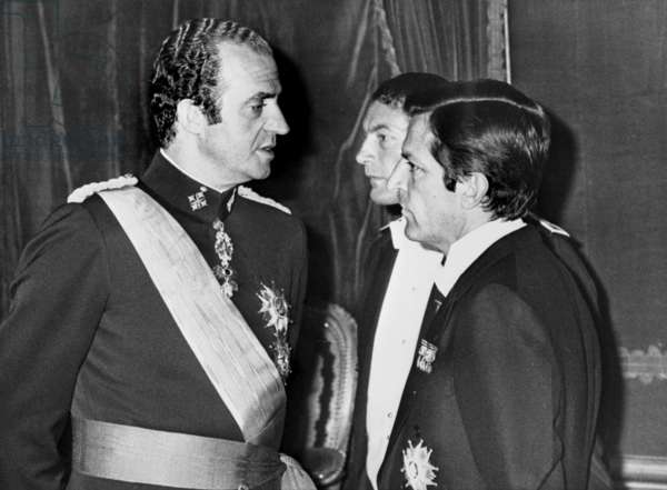 King Juan Carlos 1st of Spain and Adolfo Suarez in Madrid, July 3, 1978