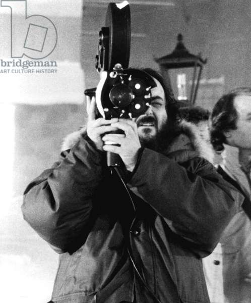 with a 35 mm camera on the shoulder movie camera filming The Shining in 1980