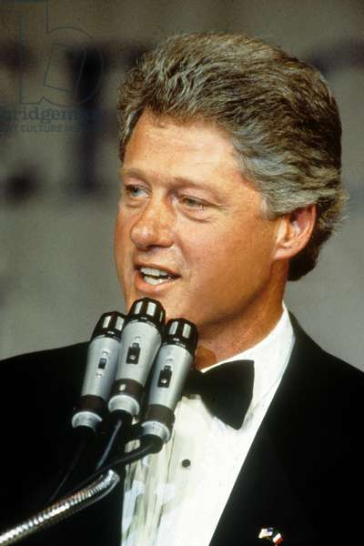 William Jefferson Clinton, aka Bill Clinton, American lawyer and politician, member of the Democratic party.