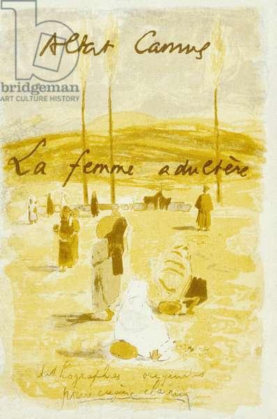 "Cover of ""La femme adultere"" by Albert Camus, 1954 (colour litho)"