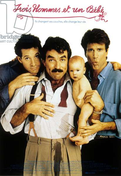 Trois hommes et un bebe THREE MEN AND A BABY de Leonard Nimoy avec Ted Danson, Tom Selleck, Steve Guttenberg, 1987