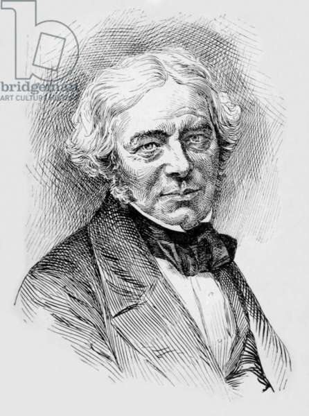 Michael Faraday (1791-1867) English chemist and physicist, engraving