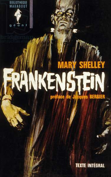 """Cover of book """"Frankenstein"""" by Mary Shelley, 1964 edition"""