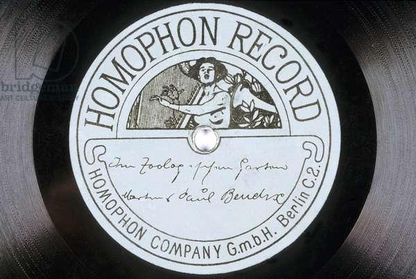 Disque vinyl : Homophon Record